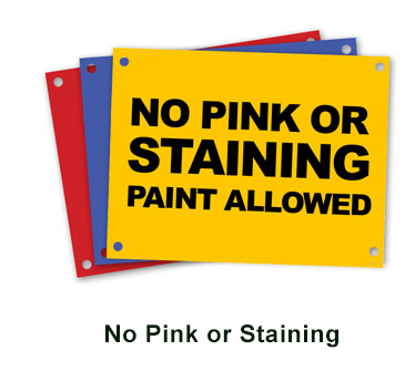 no pink paint